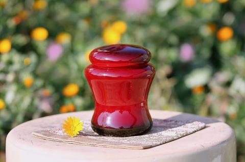 手元供養ガラス骨壷(骨壺)  [渋赤]の商品画像