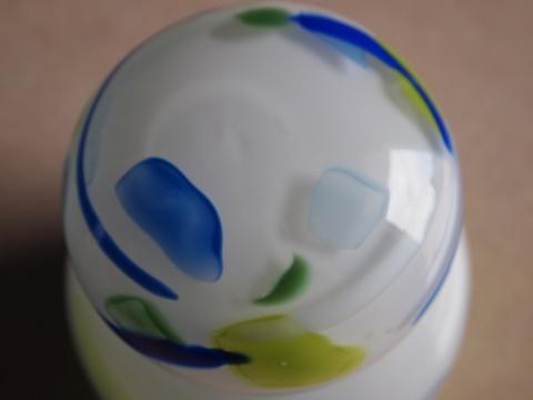手元供養ガラス骨壷(骨壺)  [白の陽C3]のイメージ画像04