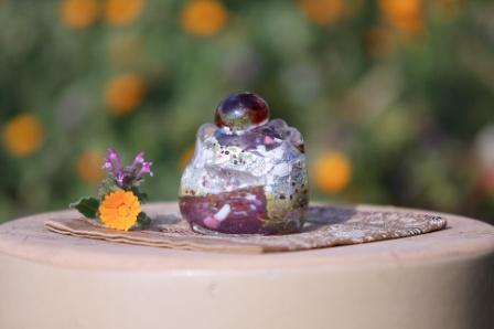 手元供養ガラス骨壷(骨壺)   [コロコロ]の商品画像