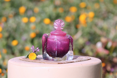 手元供養ガラス骨壷(骨壺)  [雅(みやび)]の商品画像