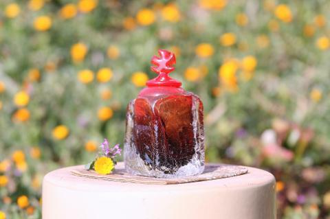 手元供養ガラス骨壷(骨壺)  [暁一番]の商品画像