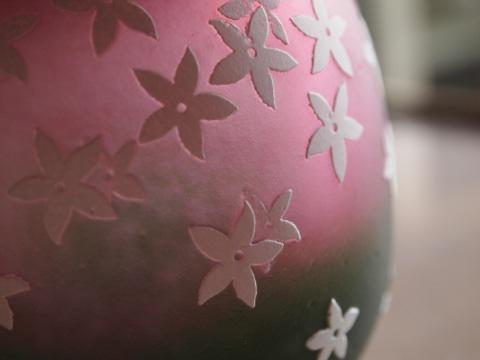 手元供養ガラス骨壷(骨壺)  [かすみ草]のイメージ画像03