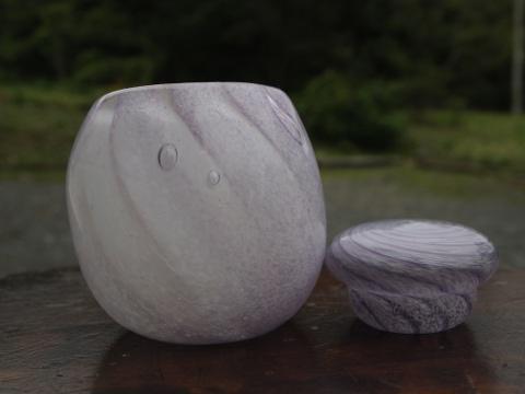 手元供養ガラス骨壷(骨壺)  [まっすぐな雲]のイメージ画像02