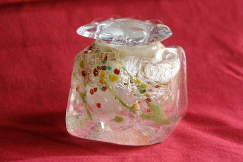 手元供養ガラス骨壷(骨壺)  [弥生]の画像