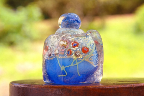 手元供養ガラス骨壷(骨壺)  [水の世界]の商品画像