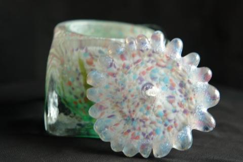 手元供養ガラス骨壷(骨壺)  [小花たち]のイメージ画像04