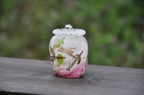 手元供養ガラス骨壷(骨壺)  [七五三]の商品画像