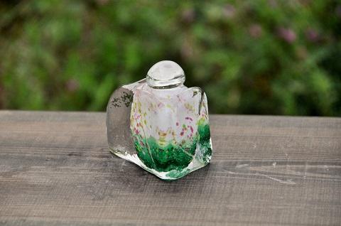 手元供養ガラス骨壷(骨壺)  [小花]の商品画像