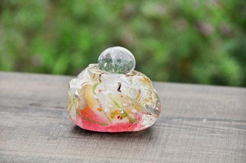 手元供養ガラス骨壷(骨壺)  [おもち]の商品画像