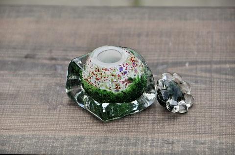 手元供養ガラス骨壷(骨壺)  [緑の世界]のイメージ画像02