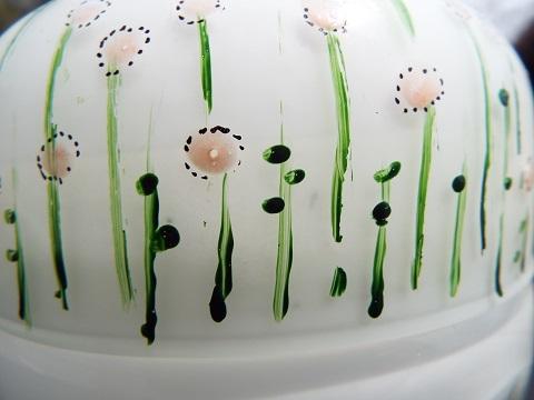 手元供養ガラス骨壷(骨壺)  [白玉干し草]のイメージ画像03