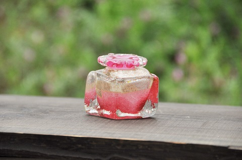 手元供養ガラス骨壷(骨壺)  [コロコロⅢ]の商品画像