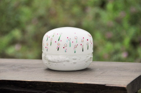 手元供養ガラス骨壷(骨壺)  [マーガレット]の商品画像
