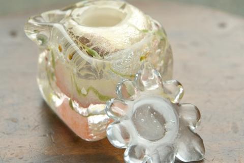 手元供養ガラス骨壷(骨壺)  [弥生]のイメージ画像04