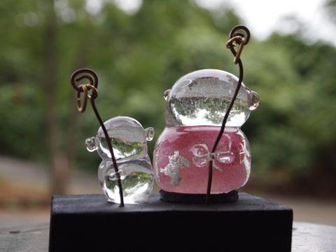手元供養ガラスお願い地蔵    (お伴付き)[№1101]の画像