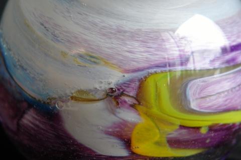 手元供養ガラス骨壷(骨壺)  [かわいいお帽子]のイメージ画像02