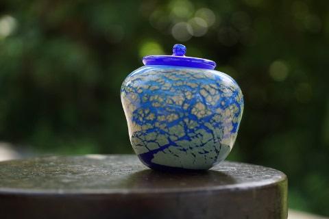 手元供養ガラス骨壷(骨壺)  [城壁]の商品画像