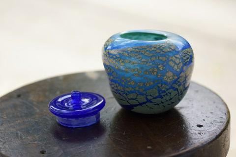 手元供養ガラス骨壷(骨壺)  [城壁]のイメージ画像03