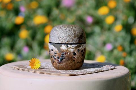 手元供養ガラス骨壷(骨壺)  [茶渋]の商品画像