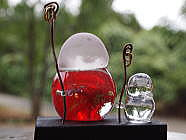 手元供養ガラス親子地蔵[№2018]の画像