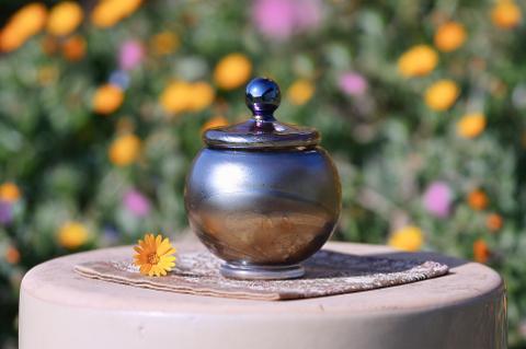 手元供養ガラス骨壷(骨壺)  [あなたと]の商品画像