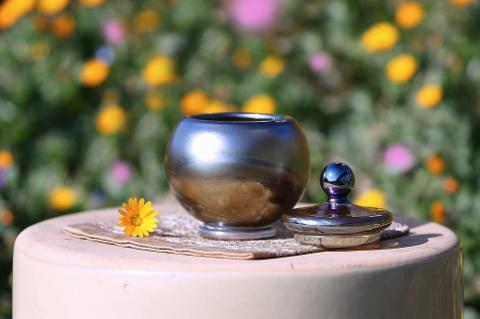 手元供養ガラス骨壷(骨壺)  [あなたと]のイメージ画像02