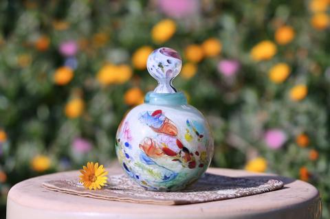 手元供養ガラス骨壷(骨壺)  [仲良し]の商品画像