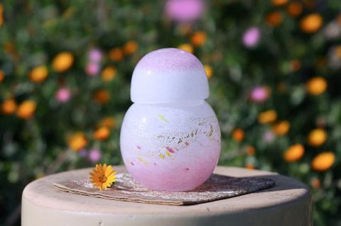 手元供養ガラス骨壷(骨壺)  [朝焼けの空]の商品画像