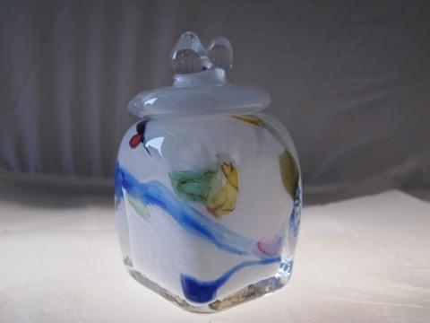 手元供養ガラス骨壷(骨壺)  [空]の商品画像