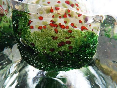 手元供養ガラス骨壷(骨壺)  [緑の世界]のイメージ画像03